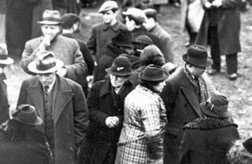 German Jewish deportees outside the Polish town of Zbaszyn37 (photo credit: Jerusalem Post Archives)