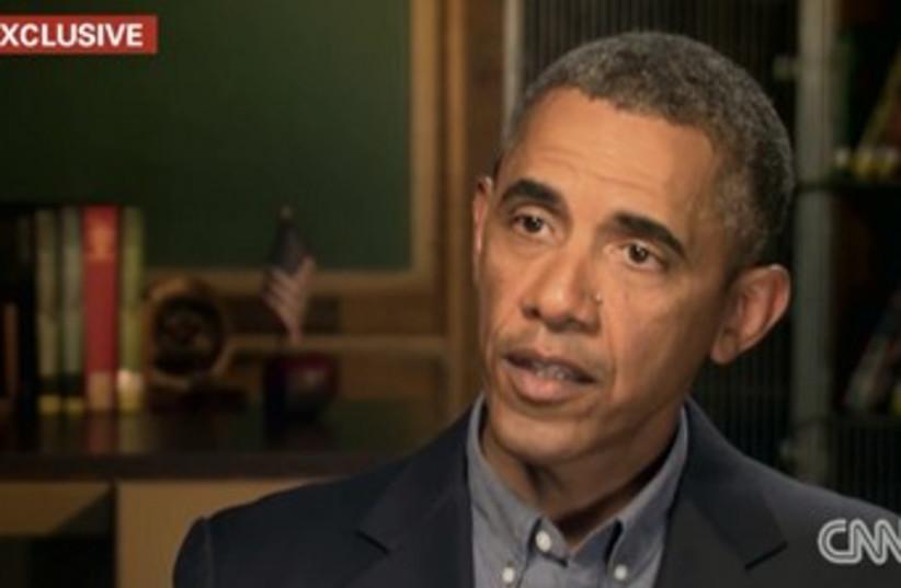 US President Barack Obama  (photo credit: CNN screenshot)