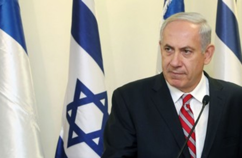 Netanyahu looking menacing 370 (photo credit: Marc Israel Sellem/The Jerusalem Post)