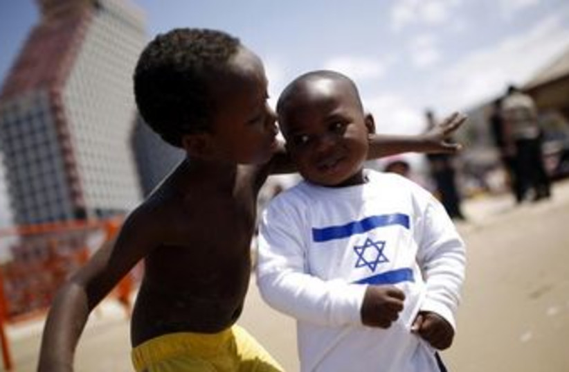 Children of migrant workers Tel Aviv African refugee 370 (photo credit: REUTERS/Amir Cohen)