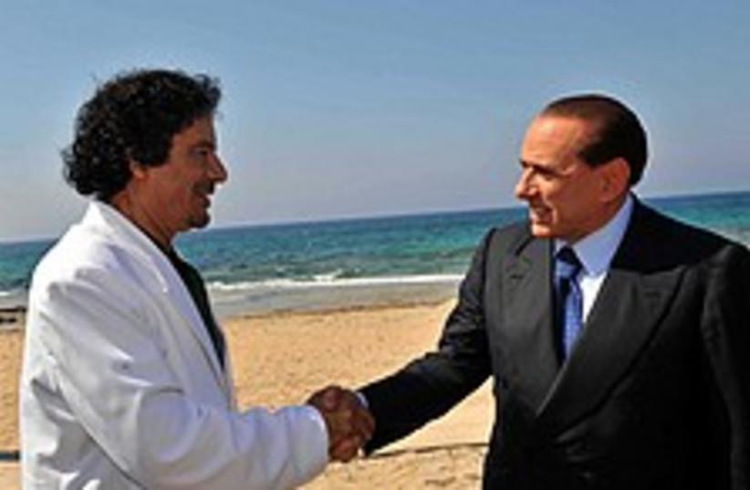gaddafi burlusconi 22488 (photo credit: )