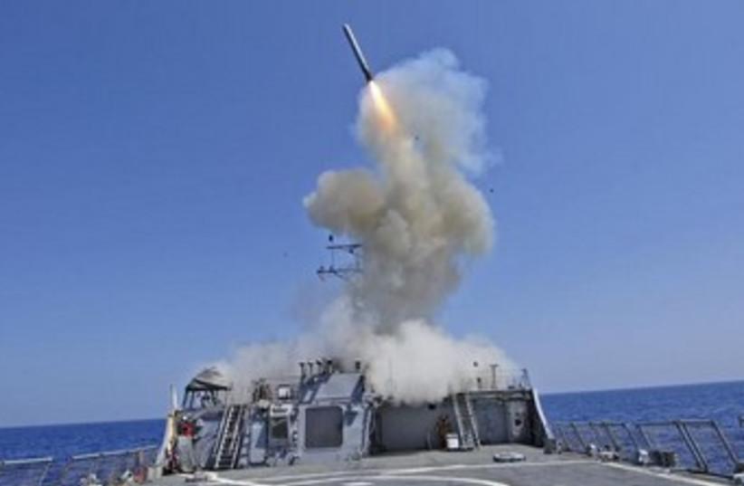 tomahawk missile launch 370 (photo credit: REUTERS)