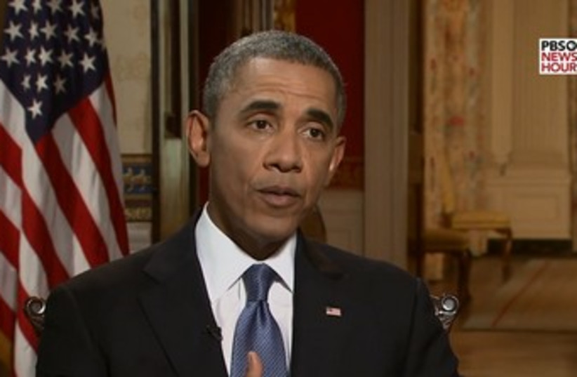 Obama discusses Syria in PBS interview 370 (photo credit: YouTube Screenshot)