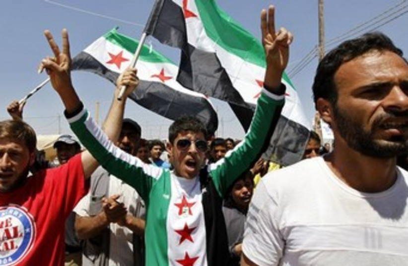 Syrian opposition 370 (photo credit: REUTERS/Muhammad Hamed)