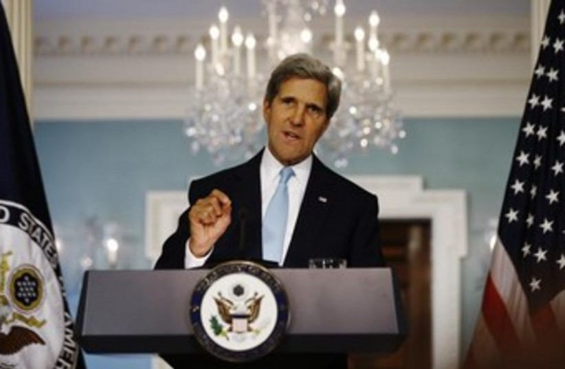 Kerry in press conference on Syria 370 (photo credit: REUTERS/Jason Reed)