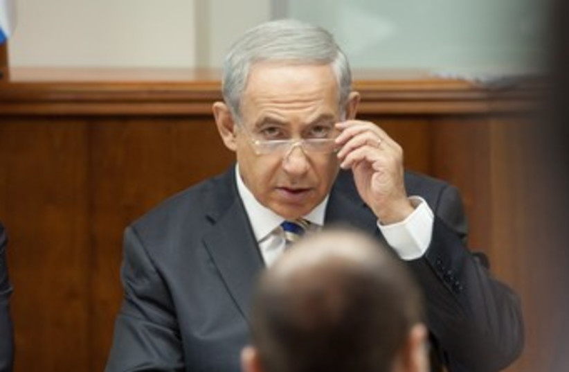 Netanyahu cabinet 1.9.13 (photo credit: Emil Salman / Pool)