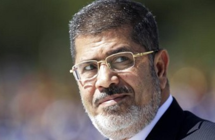 Deposed Egyptian President Mohamed Morsi 370 (photo credit: REUTERS)