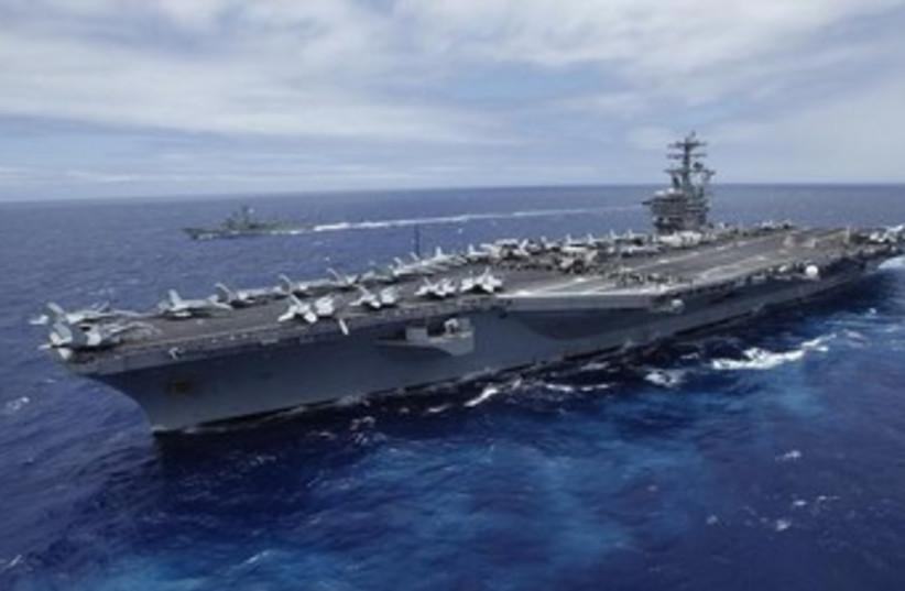 USS Nimitz 370 (photo credit: REUTERS/Hugh Gentry)
