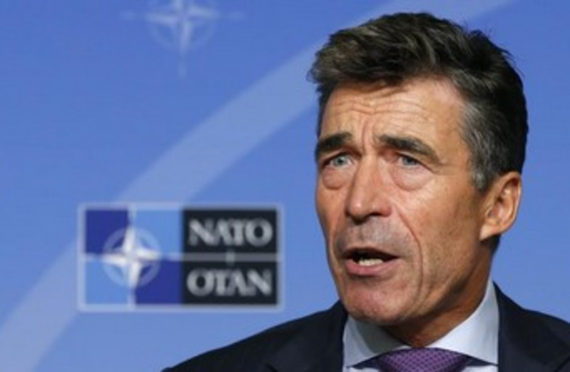 NATO Secretary General Anders Fogh Rasmussen (photo credit: Reuters)