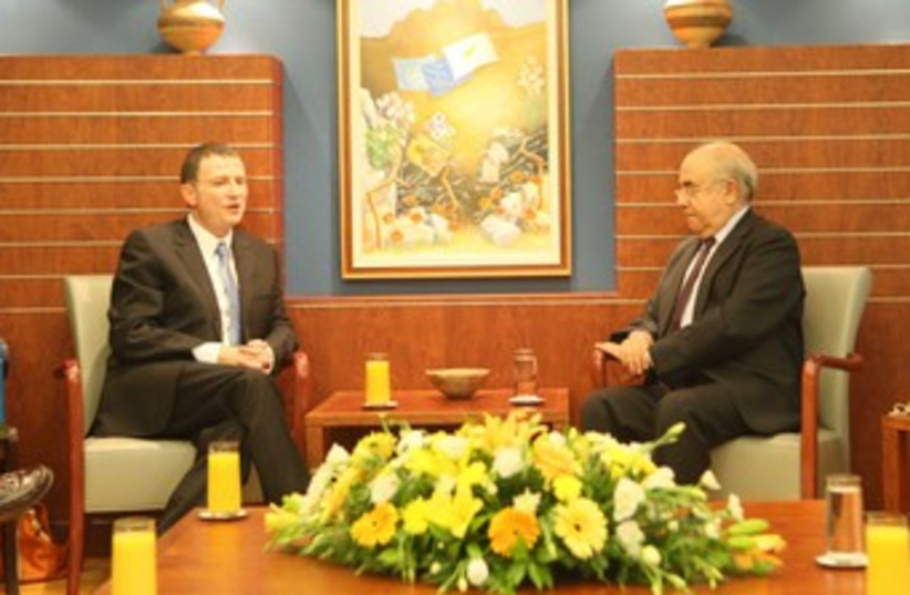 Edelstein meets with Cyprus counterpart 370 (photo credit: Knesset Speaker's Office)