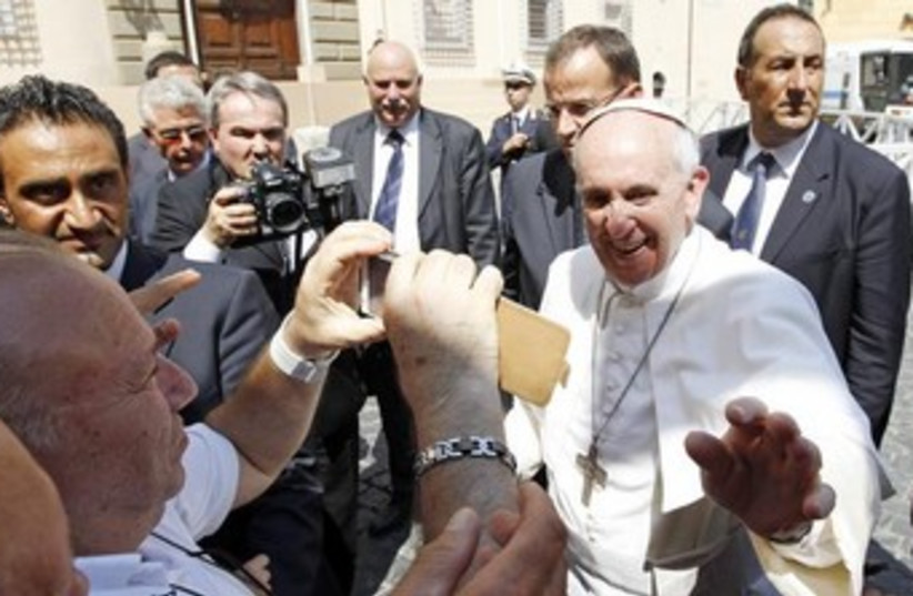 Pope Francis I 370 (photo credit: Reuters)