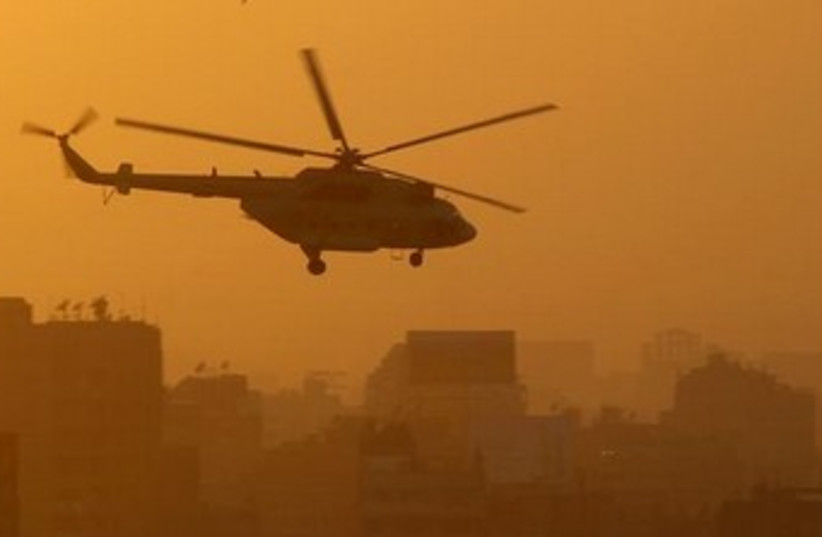 egypt helicopter 370 (photo credit: REUTERS)