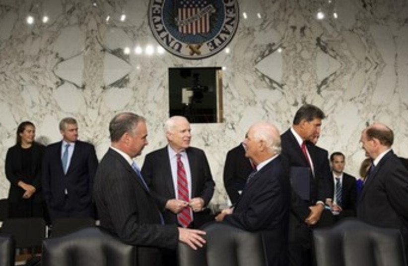 Senate Foreign Relations Committee hearing 370 (photo credit: REUTERS)
