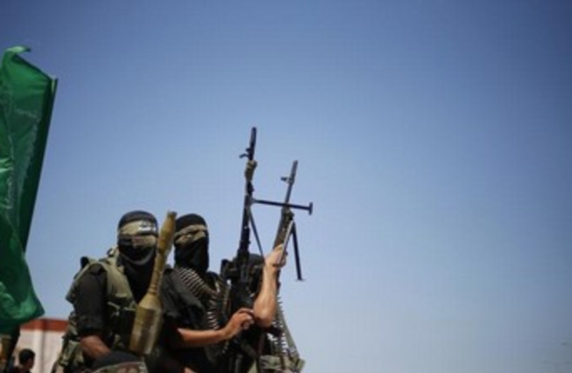 Hamas gunmen in the northern Gaza Strip 370 (photo credit: Reuters)