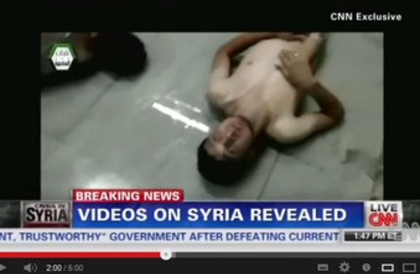 CNN video showing Syrian victims of attack 370 (photo credit: YouTube Screenshot)