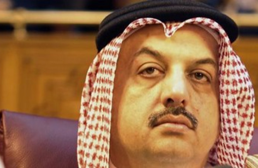 Qatar's Foreign Minister Khalid bin Mohammed Al Attiyah370 (photo credit: Reuters)