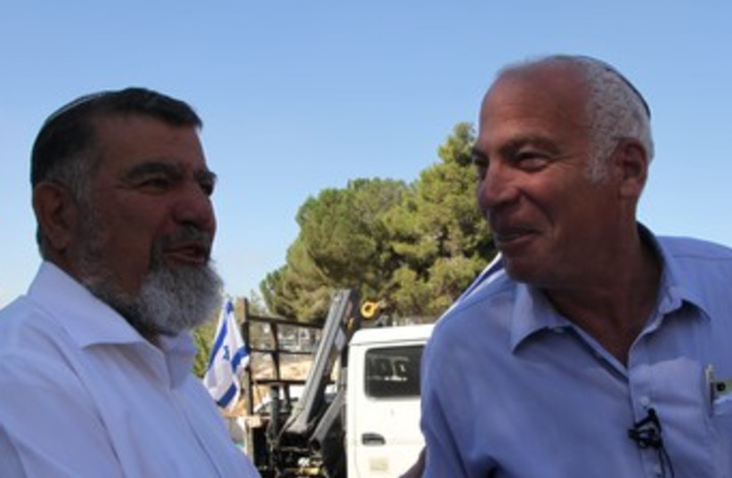 Samaria Regional Council head Gershon Mesika and Ariel370 (photo credit: TOVAH LAZAROFF)