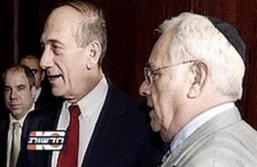 olmert talansky 248 88 (photo credit: Channel 10)