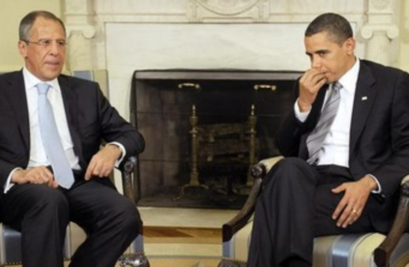 Obama and Lavrov 370 (photo credit: REUTERS)