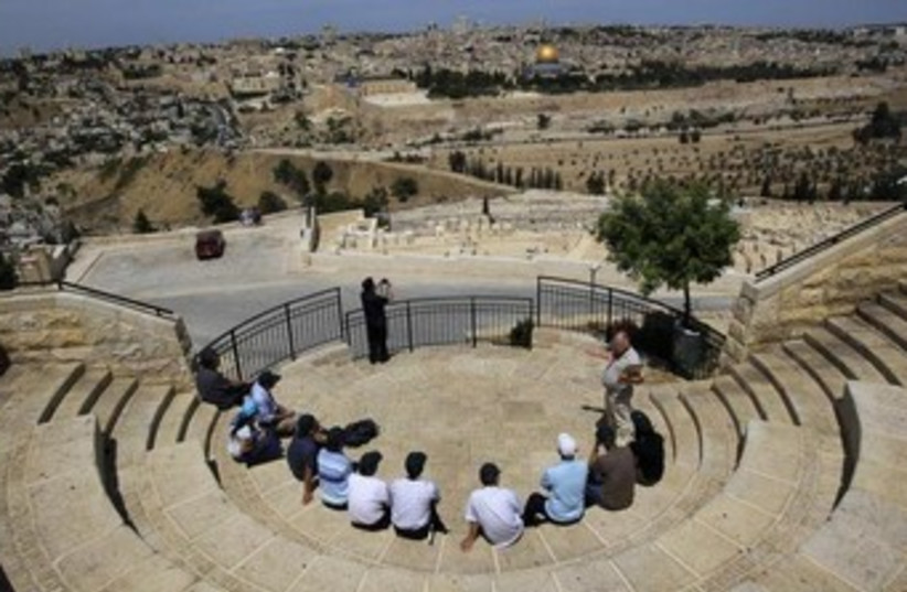tourists visit mt. of olives 370 (photo credit: REUTERS)