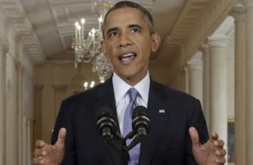 Obama makes White House address on Syria 370 (photo credit: REUTERS)