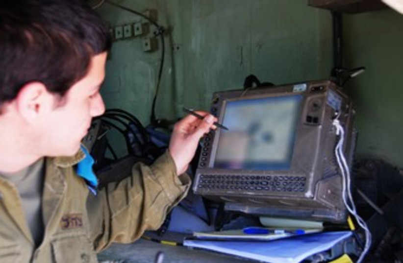 Digital Ground Army command-and-control system 370 (photo credit: IDF Spokesman's Office)