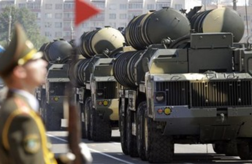 Russian S-300 anti-aircraft missile system 350 (photo credit: Reuters)