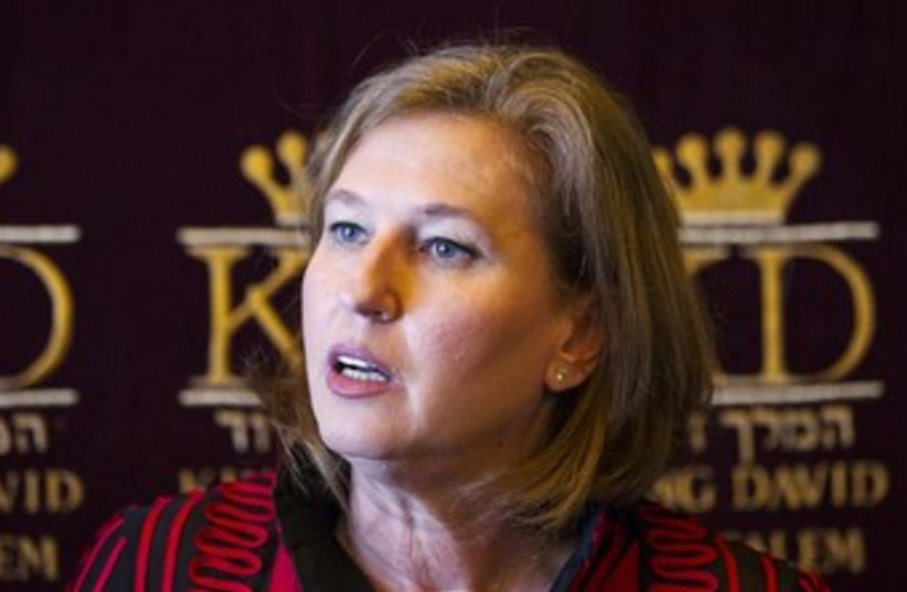 Tzipi Livni, Israel's justice minister and chief negotiator (photo credit: Reuters)