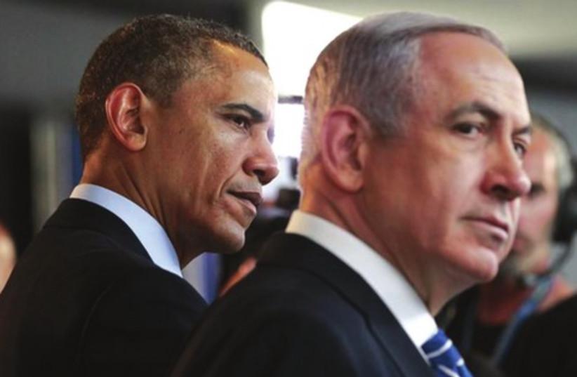 Netanyahu and Obama 390 (photo credit: JASON REED / REUTERS)