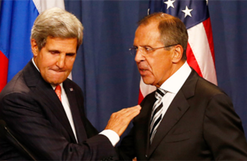 Kerry Lavrov geneva 14.9.13 370 (photo credit: Reuters)