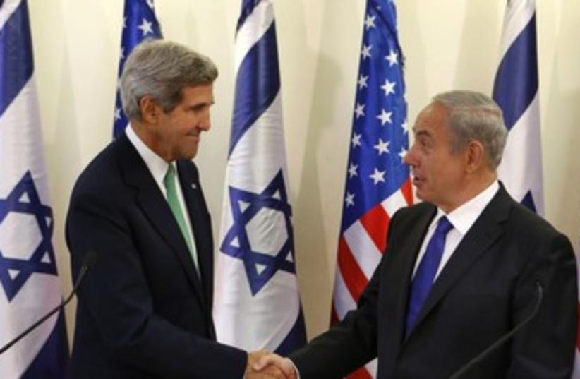 Kerry and Netanyahu 370 (photo credit: REUTERS)