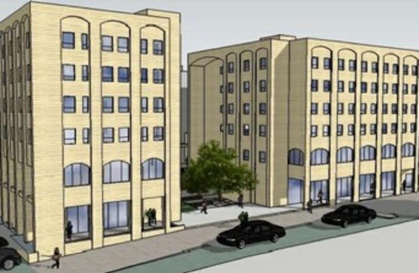 Rndering of Bezalel's dorms370 (photo credit: Courtesy- Revelation Architects)