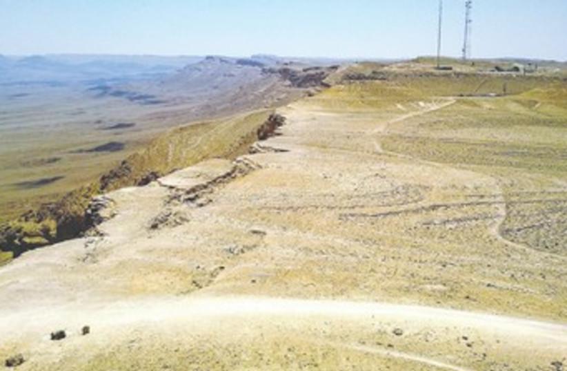 The site of the planned neighborhood in Mitzpeh Ramon 370 (photo credit: Dov Greenblatt/SPNI)