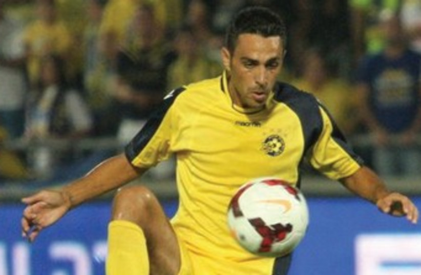 Maccabi Tel Aviv midfielder Eran Zahavi 370 (photo credit: Adi Avishai and Uzi Gal)