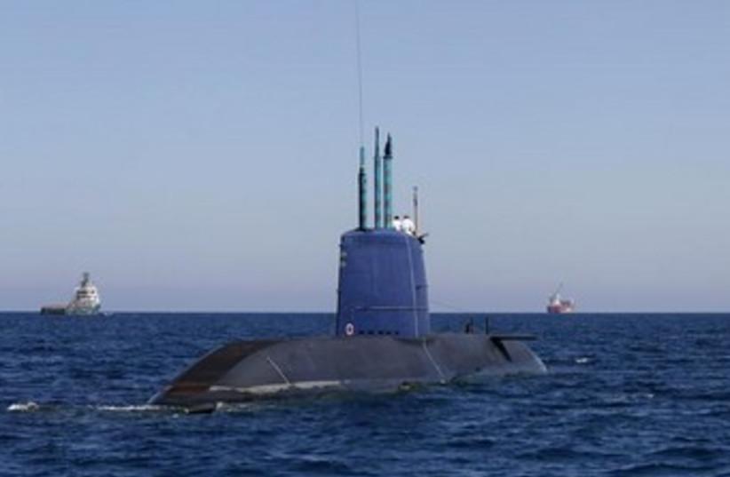 Tekumah, a Dolphin-class submarine 370 (photo credit: REUTERS)