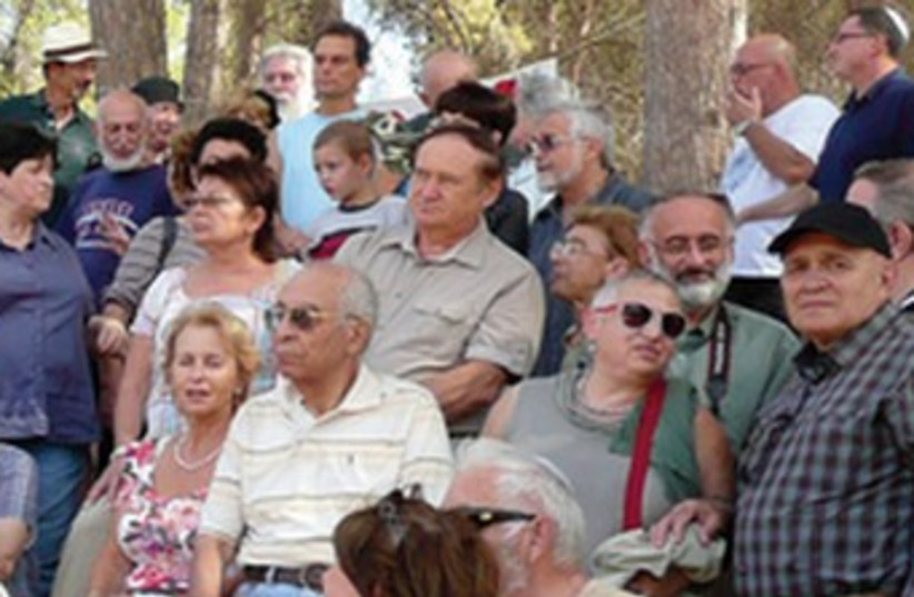 Succot gathering in the Ben-Shemen Forest, 2011 (photo credit: Courtesy Yosef Begun)
