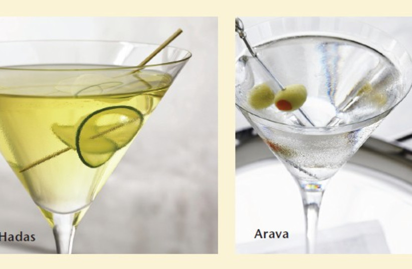 Four drinks for the Four Species (photo credit: Courtesy)