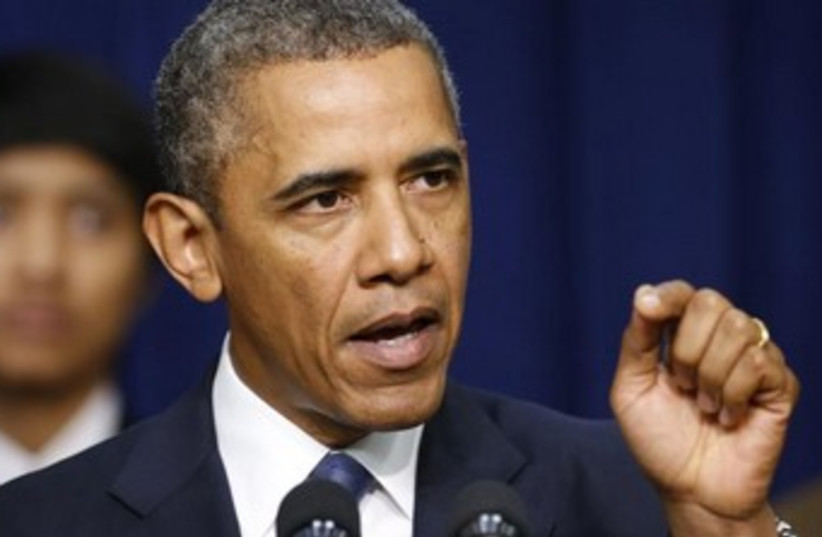 US President Obama 370 (photo credit: REUTERS/Kevin Lamarque)