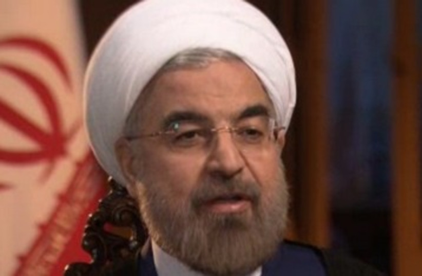 Rouhani in NBC interview 370 (photo credit: Screenshot)