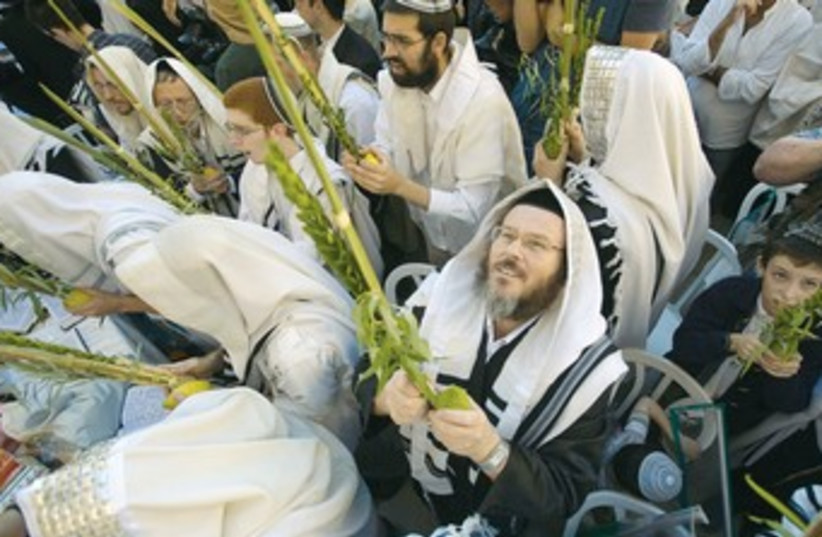 Jews celebrate succot 370 (photo credit: REUTERS)