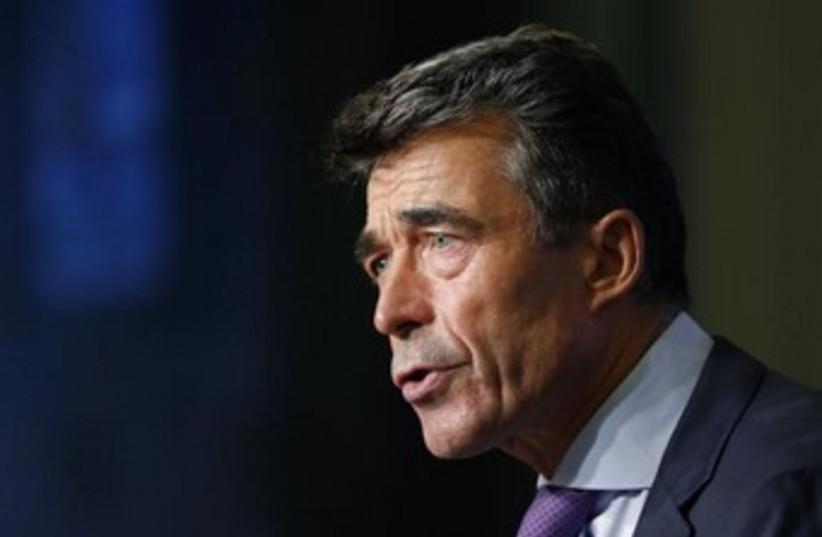 NATO secretary-general (photo credit: Reuters)
