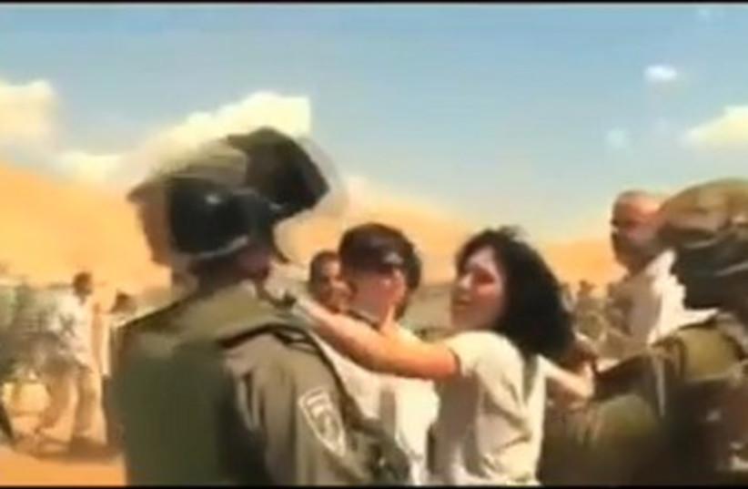 EU diplomat strikes IDF soldier 370 (photo credit: Screenshot)