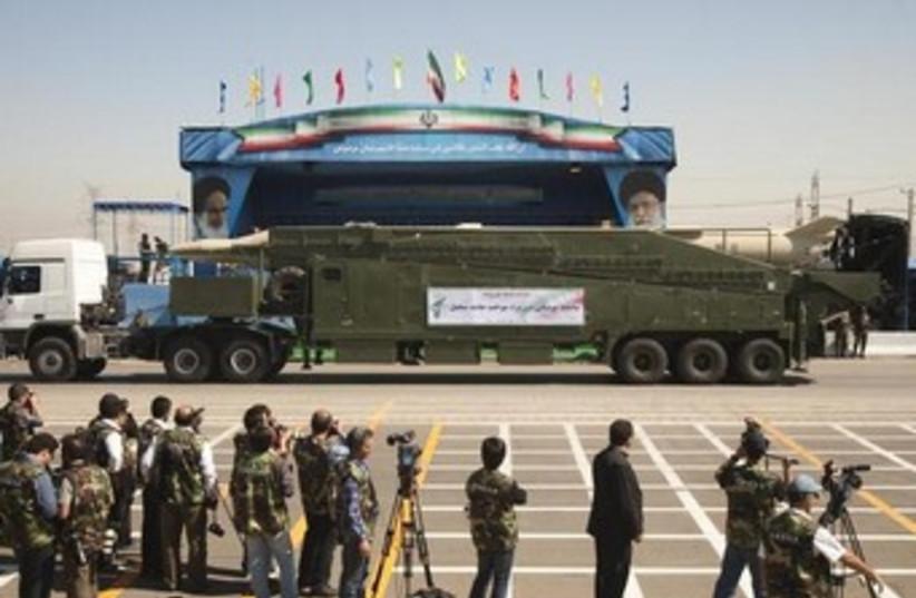 Iranian Sejil 2 missile 370 (photo credit: REUTERS)