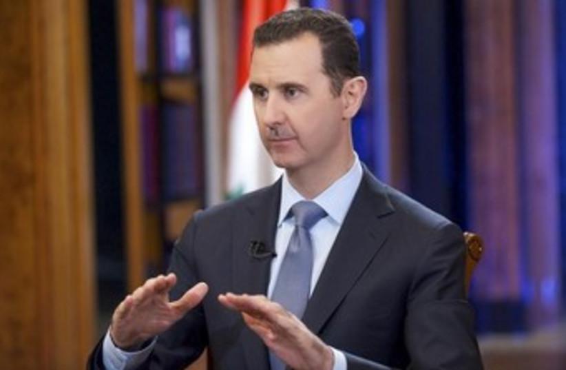 Bashar Assad 370 (photo credit: REUTERS/SANA/Handout)