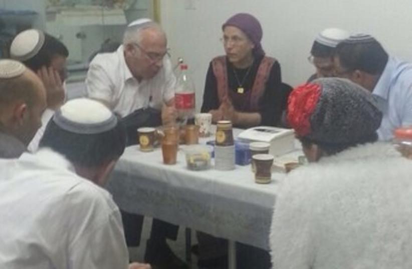 Bayit Yehudi members in Hebron house 370 (photo credit: Courtesy Bayit Yehudi)