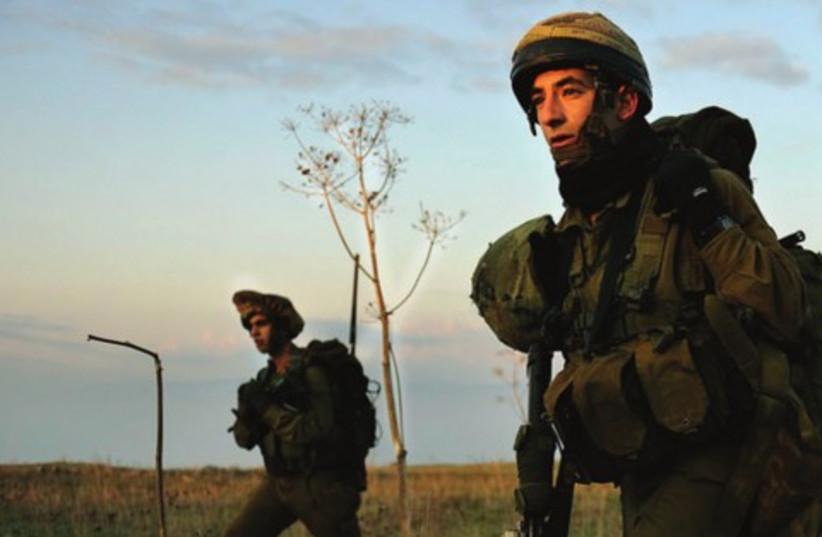 Druze soldiers of the IDF's Herev Battalion in training 521 (photo credit: IDF Spokesperson's Unit)