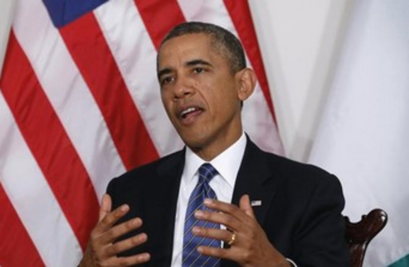 Obama in New York 370 (photo credit: REUTERS/Kevin Lamarque)
