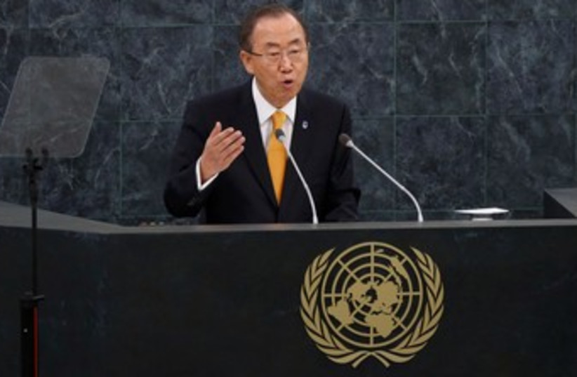 Ban Ki-moon at the UNGA 2013 370 (photo credit: REUTERS)