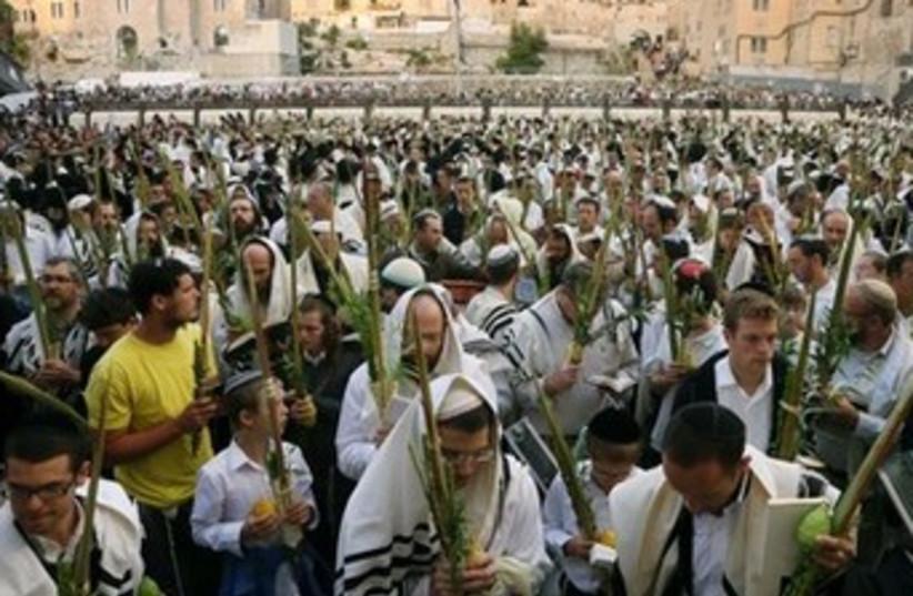 succot at the kotel 390 6 (photo credit: Marc Israel Sellem/The Jerusalem Post)