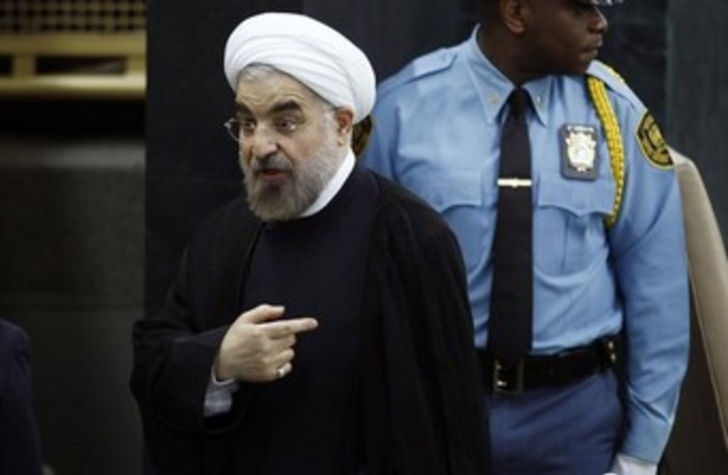Rouhani at the UN 370 (photo credit: REUTERS/Eduardo Munoz)